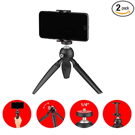 Joby Handypod Mobile Mini Tripod with GripTight One Mount for Smartphone,  Vlogging, DSLR, CSC and Compact Cameras, LED, Microphones, Action Cameras