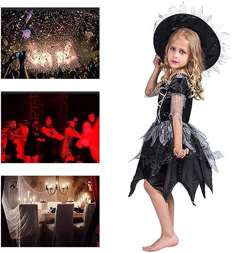 Disfraz De Halloween Niños Niñas Lentejuelas Negras Traje De Falda ...
