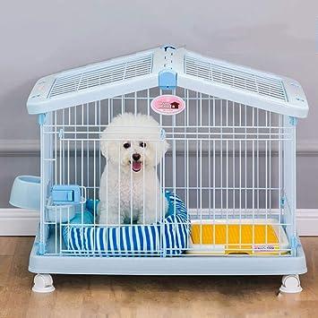Jaula para Mascotas, reja para Perros de Resina ABS - con Inodoro, casa para Mascotas en el Interior - se Pueden Abrir Ambos tragaluces: Amazon.es: Hogar