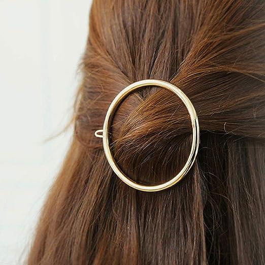 geometrische Dreiecks-Haarspange DDGE DMMS minimalistische Gold und Silber Bobby Pin Pferdeschwanz-Halter Statement Zubeh/ör Haarspangen zierliche Hohle Metall-Haarspange