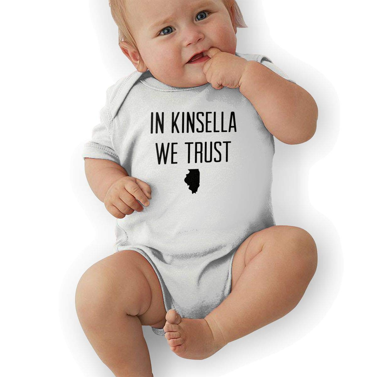Unisex Baby Short Sleeve Jersey Bodysuit in Kinsella WE Trust-1 Baby Clothes