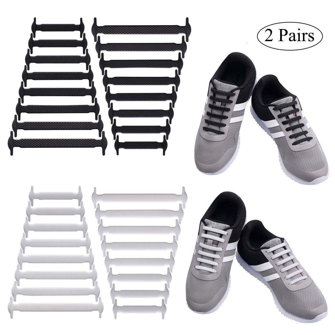 a6f3b6892dfe Uniqhia No Tie Shoelaces Kids Adults - Multicolor Fashion Sports Fan  Shoelaces - Fits Most Types Shoes - Sneaker Boots