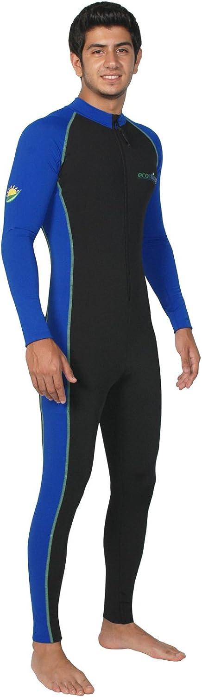 Men Sun Protective Stinger Swimsuit Dive Skin Chlorine Resistant UPF50+ Black Royal