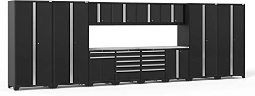 NewAge Products Pro Series Black 14 Piece Set, Garage Cabinets, 64305