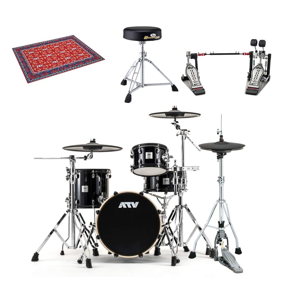ATV aDrums artist Basic Set プロフェッショナルセット ツインペダルVer 電子ドラム   B07HM2FLCX
