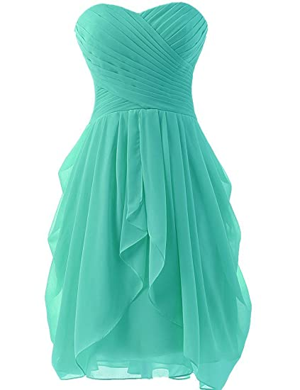 Review Uther Women Sweetheart Short Chiffon Prom Dress Cocktail Party Homecoming Gown