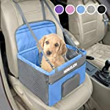 Henkelion Pet Dog Booster Seat, Deluxe Pet Booster Car Seat for Small Dogs Medium Dogs, Reinforce Metal Frame…