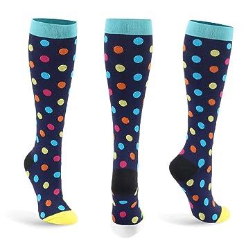 Calcetines de compresión para mujeres y hombres: los mejores para correr, deportes atléticos, crossfit (D-1-Pares, S/M): Amazon.es: Salud y cuidado personal