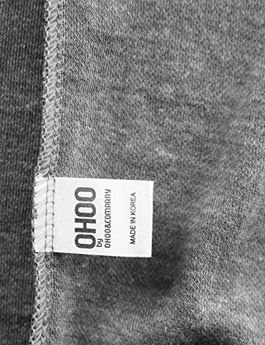 Ohoo Mens Slim Fit Short Sleeve Lightweight Zip-up Hoodie with Kanga Pocket/DCF007-DEEPGREY-XL