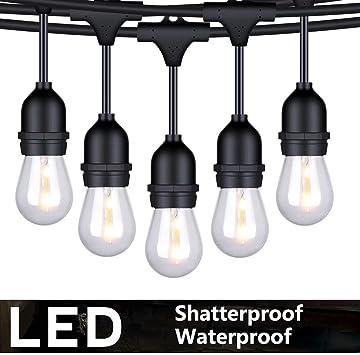 Amazon.com: Cadena de luces FOXLUX para exteriores – 48 pies ...