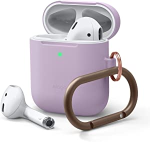 elago Skinny AirPods Case with Keychain Designed for Apple AirPod 1 & 2 [Lavender]