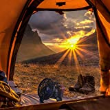 Cozyswan-Multi-functional-Camping-Tent-Lamp-Portable-2in1-18LED-with-Ceiling-Fan-Weather-Resistant-Lantern-light