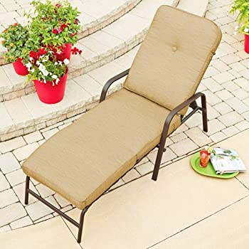 Mainstays Lawson Cushion Chaise Lounger