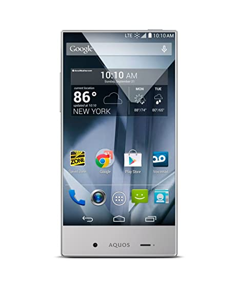 Amazon.com  Sharp Aquos Crystal Silver (Boost Mobile)  Cell Phones    Accessories 45e0a94473