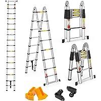 Finether 5M Escalera Telescópica de Aluminio Escalera Plegable