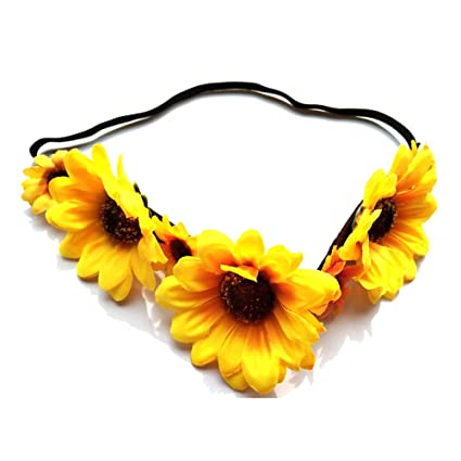 Amazon bosheng sunflower crown sunflower hair wreathsunflower bosheng sunflower crown sunflower hair wreathsunflower headpiecefall flower crown mightylinksfo