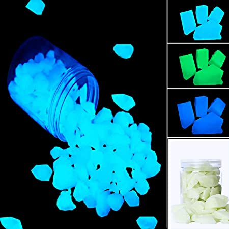 Glow in the dark Aqua Plastic Chips for Jewellery craft making