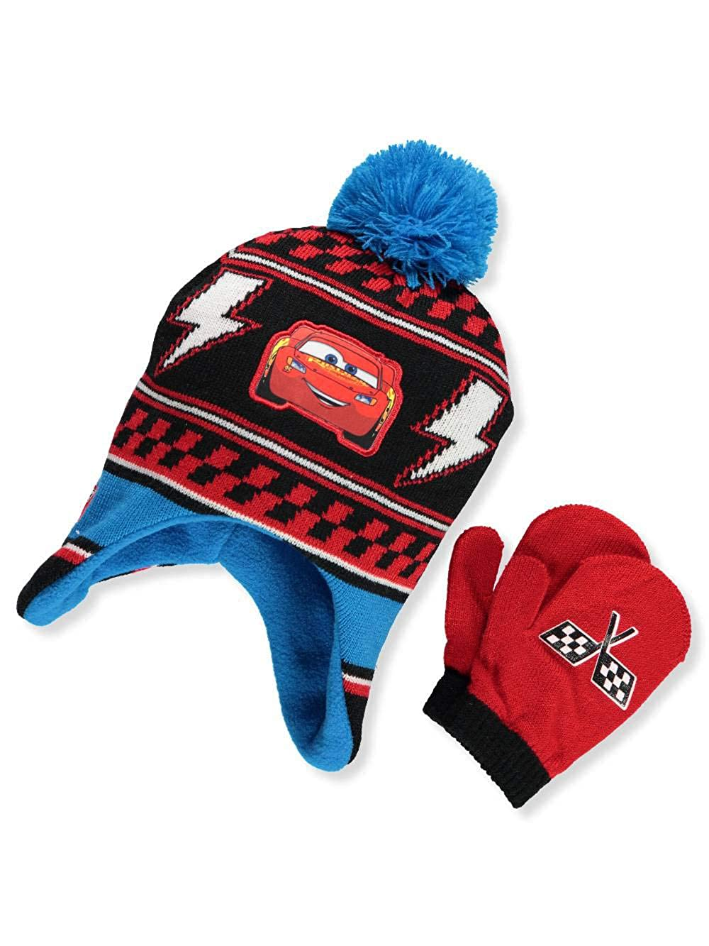 Disney Cars 3 Boys' Beanie & Mittens Set one size