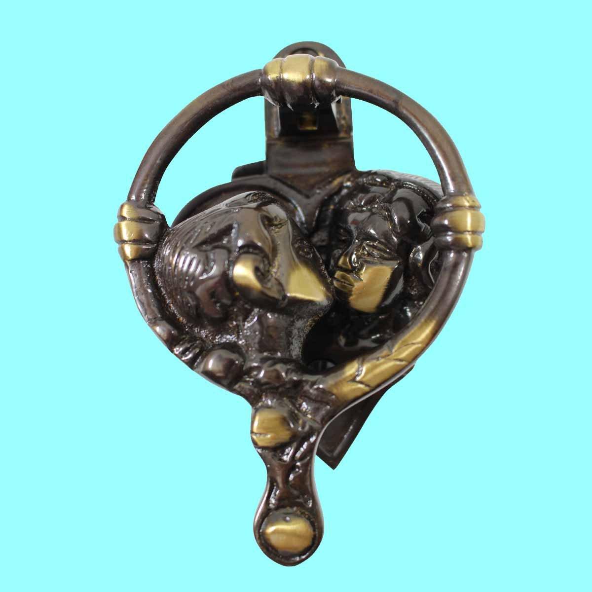Door Knockers Antique Brass Kissing Cherubs Door Knocker 4 3//4
