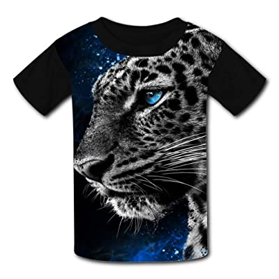 Red-Eyed Roaring Tiger Head T Shirt New Girls Black Short Sleeve T Shirt Dresses Sweat Comfort: Clothing