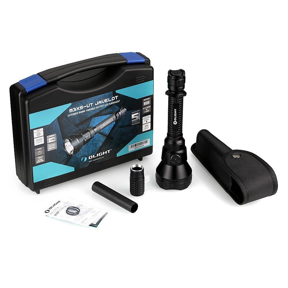 Olight M3X s-ut javelot (M3x SUT-) LED Taschenlampe LED Taschenlampe mit Cree xp-l LED max 1200Lumen Max 1000m LUMINOUS Range Outdoor, Cool schwarz Taschenlampe Lampe Licht