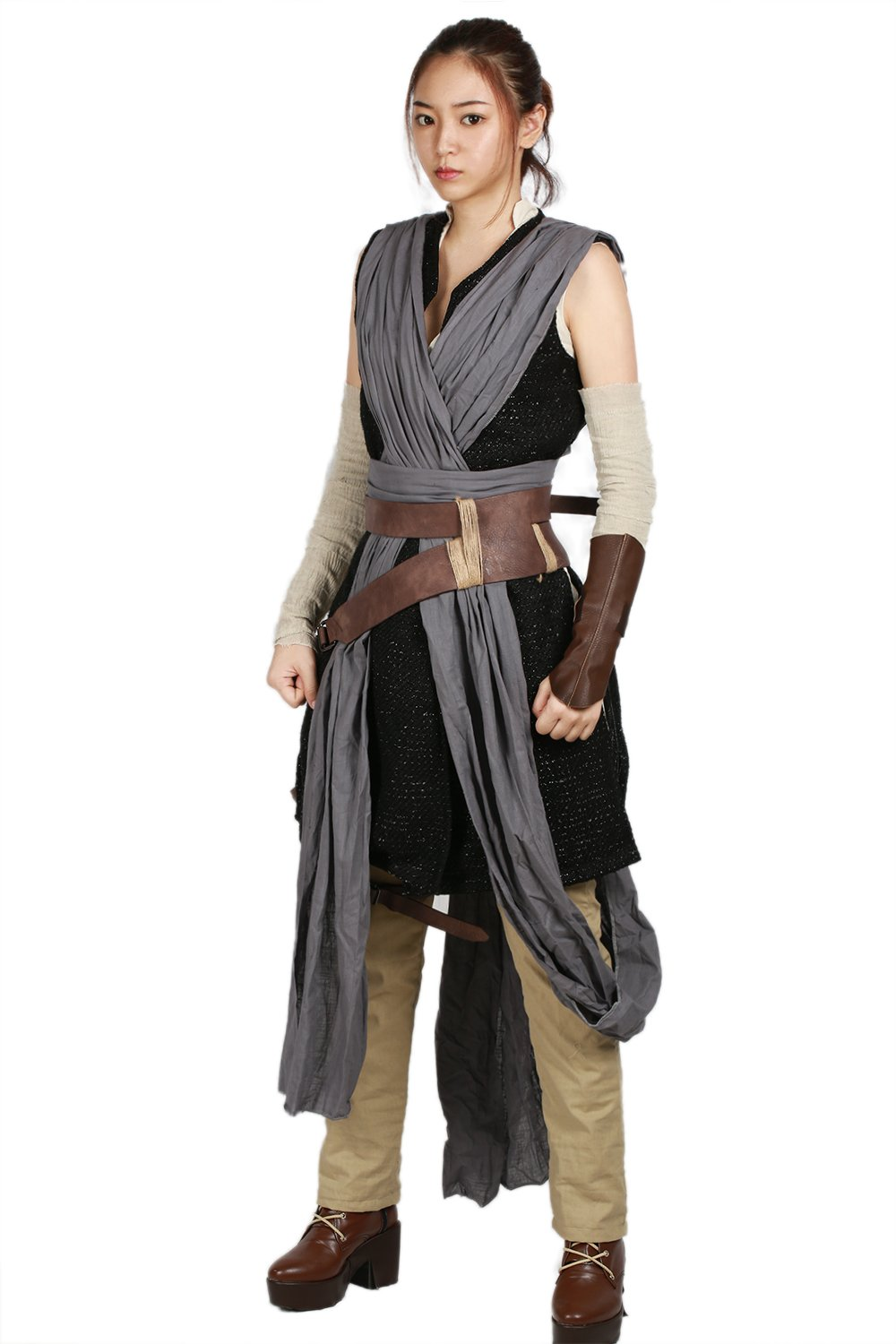xcoser Rey Costume Deluxe Cool Full Set Tops Belt Tunic Movie Cosplay Women Outfit L by xcoser (Image #3)
