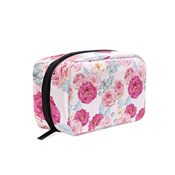 396d19d501a8 Amazon.com : Various Brightly Colored Carnations Portable Cosmetic ...