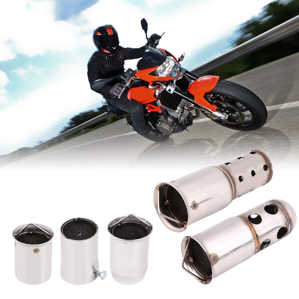3 Keenso Universal 51mm Motorrad Auspuff Schalld/ämpfer DB Killer L/ärm Eliminator Motorrad Auspuff Tipps Schalld/ämpfer