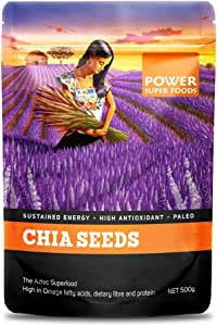 Power Super Foods Raw Chia Seeds 500 g