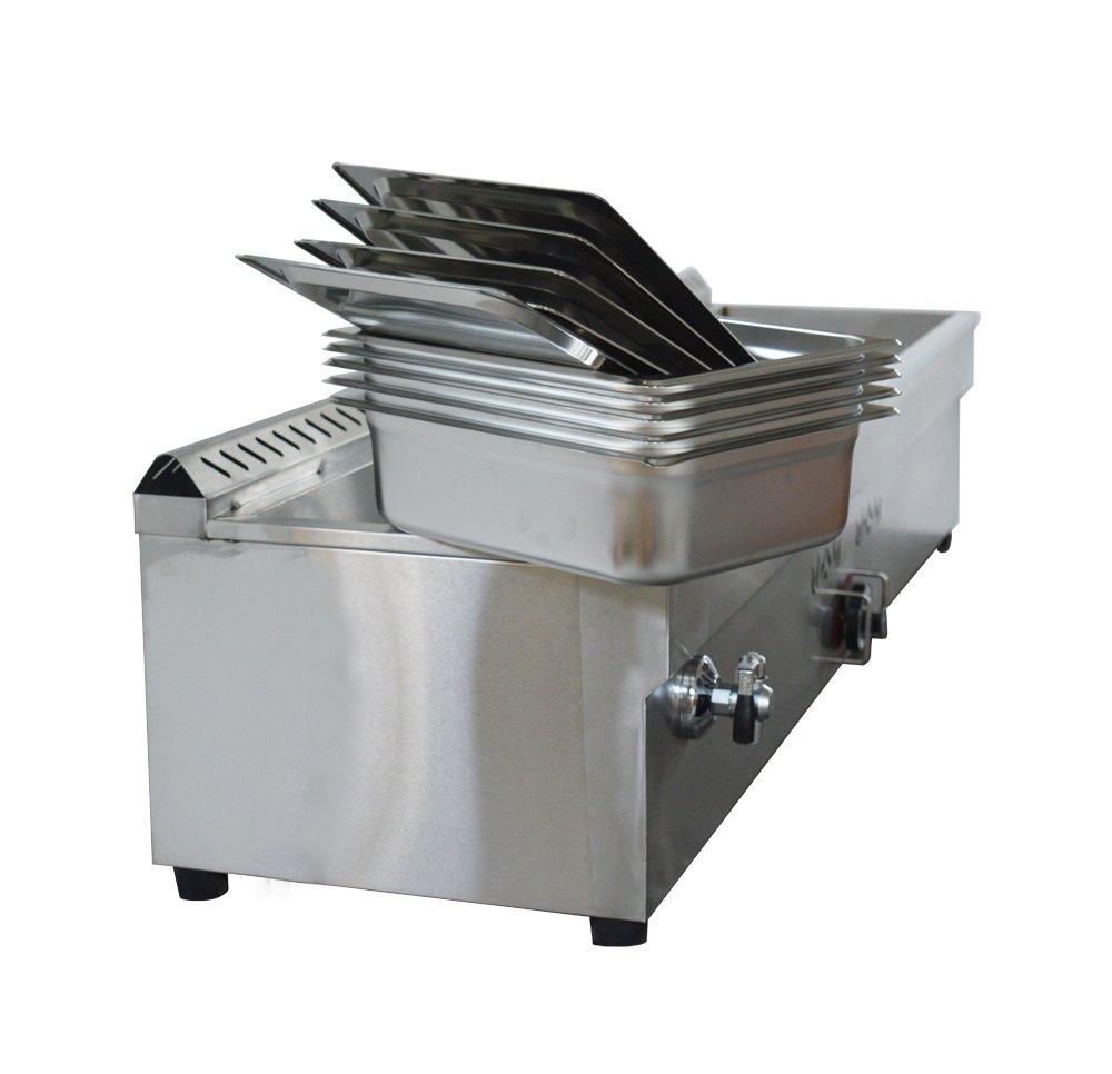 5-Pan LP Gas Steam Table Food Warmer