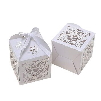 PONATIA 25PCS 10 x 10 cm de corte de láser de papel de perlas de fiesta