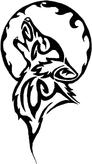 Tatuajes tribales del lobo y Luna, vinilo, adhesivos, adhesivos ...