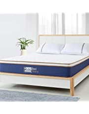 BedStory Hybrid Mattress Queen Size, 10 inch Double Bed Mattress with Pocket Coil/Spring, Foam and Latex, Eurotop Mattress with CertiPUR-US Certified Foam