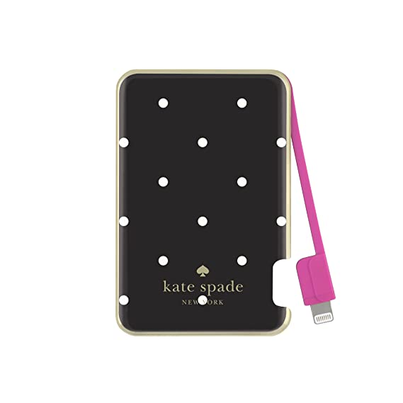 huge discount 62ead 1c1cf kate spade new york Charging Bank, Battery Charger with Lightning Cable  1500 mAh - Larabee Dot (Black/Cream)