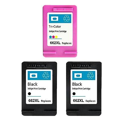 Ouguan Ink Compatible For HP662 662XL Ink Cartridge For HP Deskjet 1015 1515 2515 2545 2645 3515 3545 4510 4515 4518 Printer (1Black 1Color)
