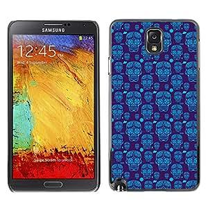 iKiki-Tech Estuche rígido para Samsung Galaxy Note 3 N9000 - Blue Skull