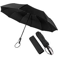 Manba Paraguas Plegable Grande de Golf Sombrilla de Viaje Protección UV Paraguas para Lluvia Anti-Viento Fácil de Tocar con Apertura y Cierre Automático Portátil Compacto Seca Rápido 46 Pulgadas