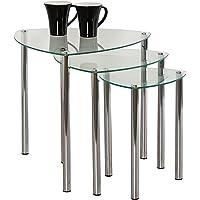 Aspecto Arena Nesting Tables/Final Lado Table-Clear Cristal, Patas
