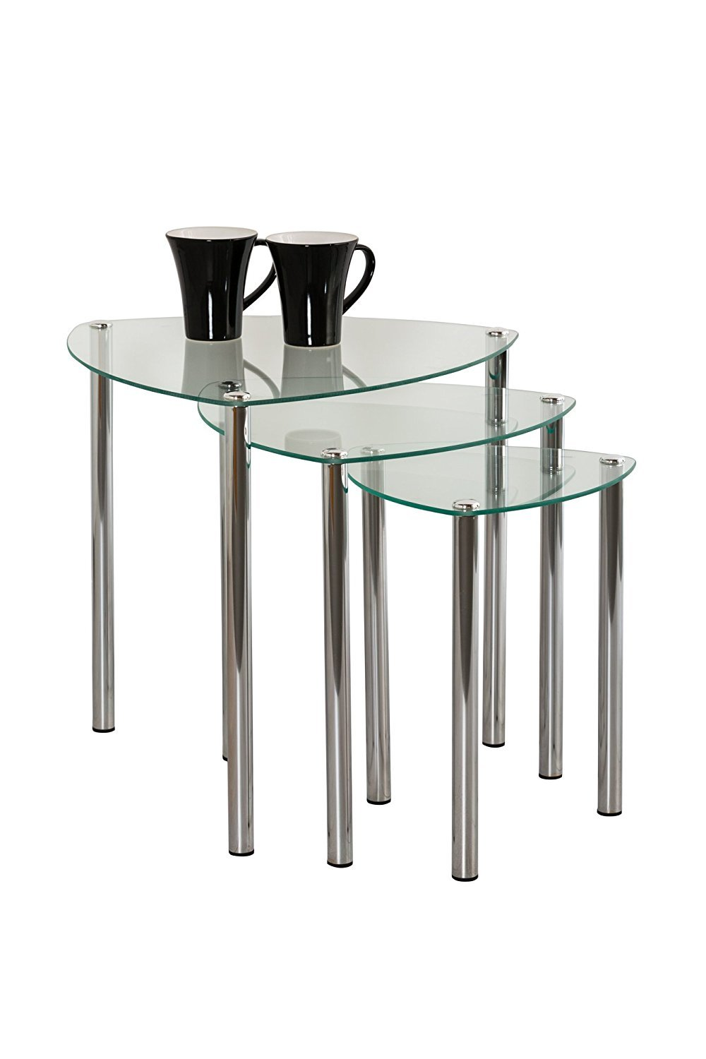 e29aab0a4917d ASPECT Arena Set of 3 Nesting END Side Table-Clear Glass