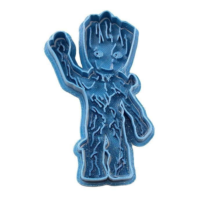 Cuticuter Groot Baby Entero Guardianes De La Galaxia Cortador de Galletas, Azul, 8x7x1.5 cm