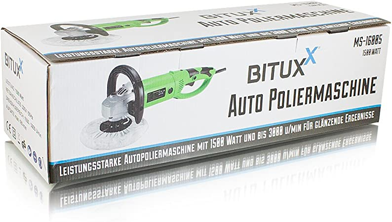 Ms Point Bituxx Sparset Poliermaschine 1200 Watt Schleifmaschine Autopolierer Poliergerät Autopflege Kfz Pflege Autolackaufbereitung Set 9 Auto