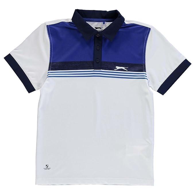 Slazenger Niños Golf Estampa Polo Camisa Camiseta Blanco 13 (XLB ...
