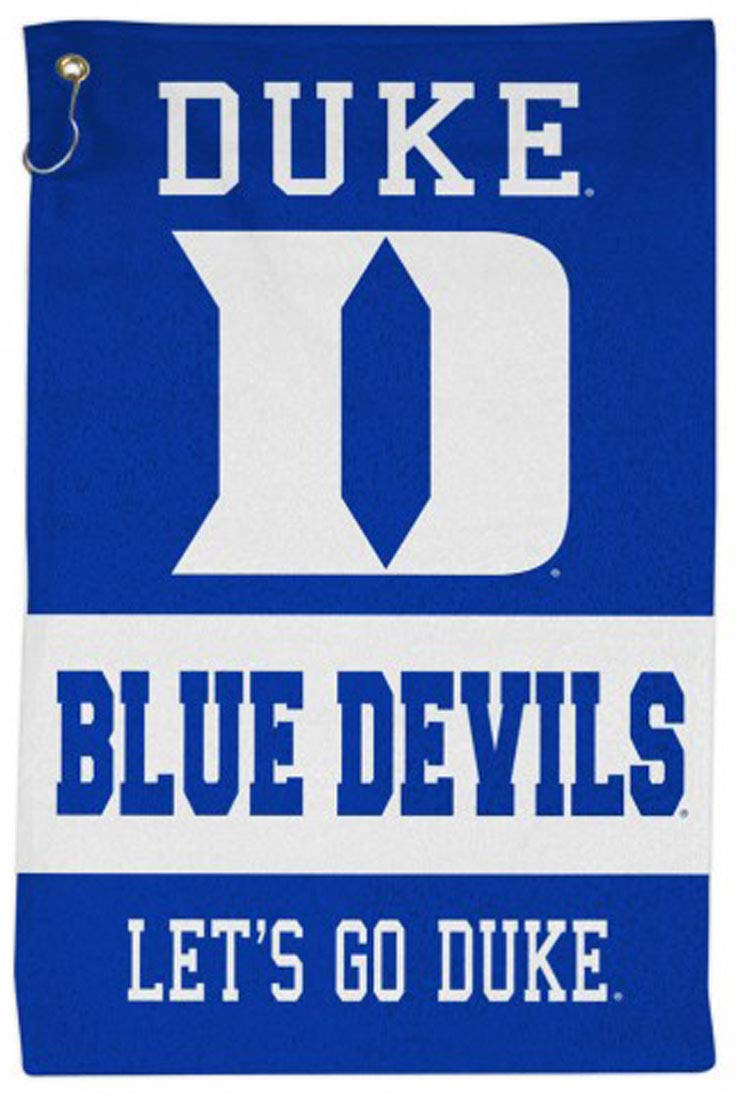 WinCraft NCAA Duke Blue Devils Sport Towel with Metal Grommet and Hook 16x25 inches