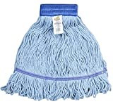 Bristles 3041-1 Commercial Mop Head Replacement, Cotton, Blue, Medium, Pack of 1