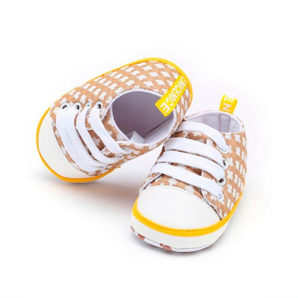 Voberry@ Newborn Baby Lace Up Sneakers Geometric Print Soft Soled Cotton Crib Prewalker Shoes