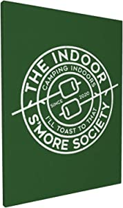 The Indoor Smore Society Wall Art Decor Canvas Print Picture Framed Artwork Ready To Hang For Bedroom Home Living Room Wall Decoration 12x16in
