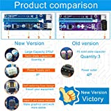 VICTONY 6-Pack PCIe Riser Mining Card 6-Pin PCI-E 16x to 1x GPU Riser Adapter 60cm USB 3.0 Riser Cable Flex Flexible Extension Cable & MOLEX to SATA Power Cable,Powered Riser Adapter Card