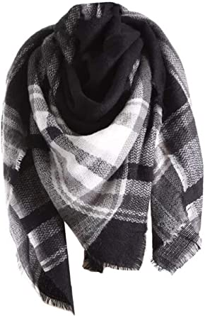 Joblot 2 x Ladies gents large scarf Tartan check or navy blue Ideal Xmas Gift