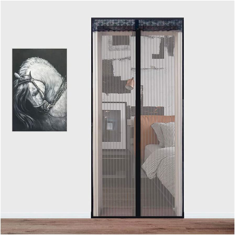 DGYAXIN Mosquitera Puerta Magnetica Corredera Cortina Negro, Mosquitera Magnética, Silencioso Sin perforación Protección Anti Insectos, Adecuado para Balcón Cocina Dormitorio,70×200cm(28×79inch): Amazon.es: Hogar