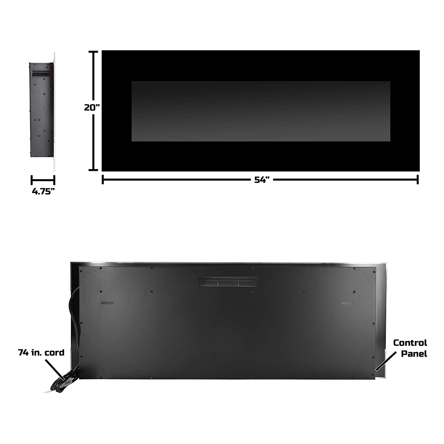 Pleasing Northwest Electric Fireplace Wall Mounted Color Changing Led Flame And Remote 50 Black Download Free Architecture Designs Intelgarnamadebymaigaardcom